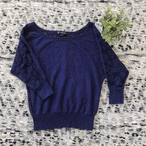 AEO Floral Lace Sweater
